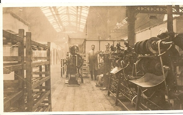 Photo:Inside the factory of Whitfield, Hodgson & Brough
