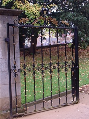 Photo:The Roughton Gates at the entrance to the Parish Church