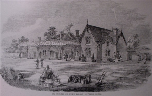 Photo:Kettering Station in 1857